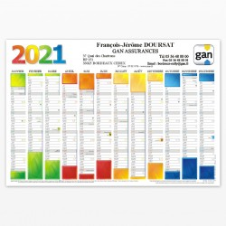 Calendrier recto 2021 - Color - Format 420*290 mm